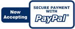 We accept Payment with PayPal